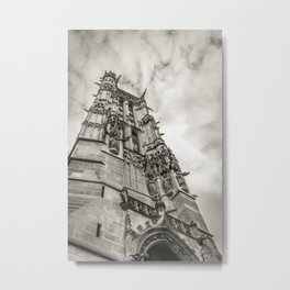 Gothic tower against the sky Metal Print