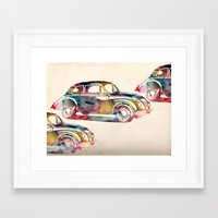 cars Framed Art Prints featuring  cars  by mark ashkenazi