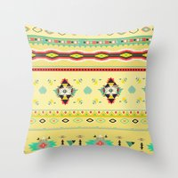 southwest Throw Pillows featuring southwest by studiomarshallarts