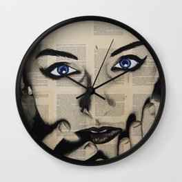 Blue Eyes Girl Wall Clock