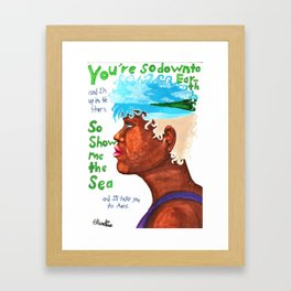 Down To Earth part 1 of 2 Framed Art Print