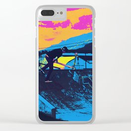 Tail Whip Scooter Stunt Clear iPhone Case
