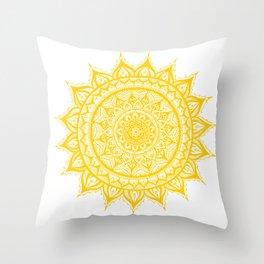 Sunflower-Yellow Throw Pillow