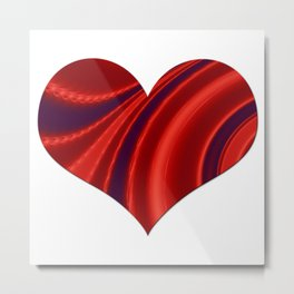 Fractal Big Heart Metal Print