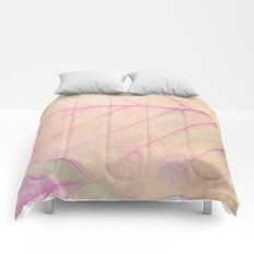 Pink Leaf Abstract Comforters