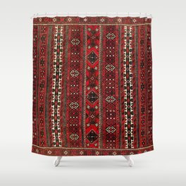 Baluch Flatweave  Antique Afghanistan  Rug Print Shower Curtain
