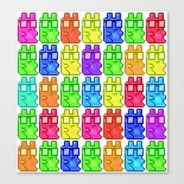 Pixel Gummy Bears Canvas Print