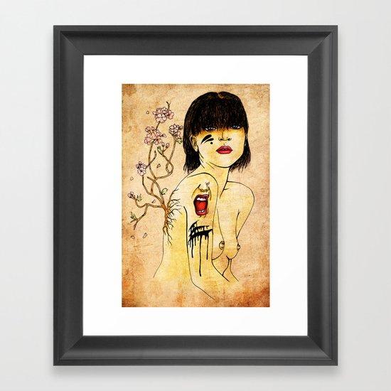 Portrait - asian woman Framed Art Print