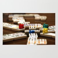 mexican Area & Throw Rugs featuring Mexican Train by Shawn King