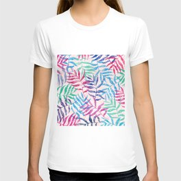 Watercolor Tropical Palm Leaves T-shirt