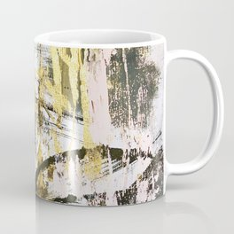 Armor [9]:a bright, interesting abstract piece in gold, pink, black and white Coffee Mug