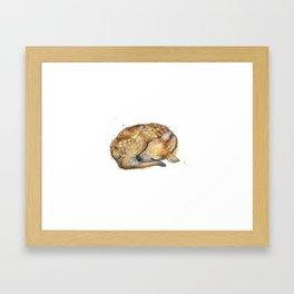 Sleeping Fawn Framed Art Print