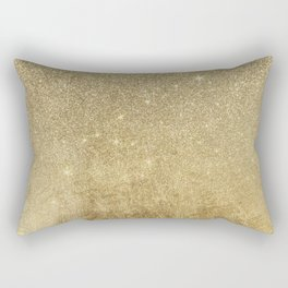 Girly Glamorous Gold Foil and Glitter Mesh Rectangular Pillow