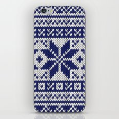 Winter knitted pattern 5 iPhone & iPod Skin