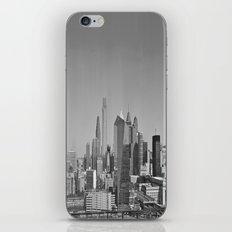 Black and White Philadelphia Skyline iPhone & iPod Skin