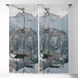Ski lift in a fairytale winter landscape | Landscape Photography Alps | Print Art Blackout Curtain