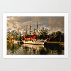 Halmstad Sweden Royalty Art Print
