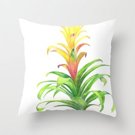 Bromeliad - Tropical plant Throw Pillow