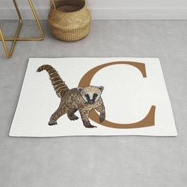 C for Coati Rug