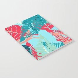 Leave Me Layered (Aqua Red) Notebook