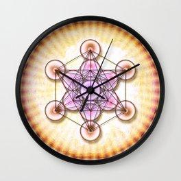 Metatron's Cube - Sun II.I Wall Clock