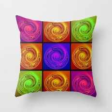 Abstract Collage Art Throw Pillow