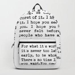 F. Scott Fitzgerald Backpack