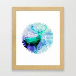 LOW-POLY DEER Framed Art Print
