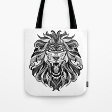 Angry Lion - Drawing Tote Bag