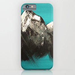 Turquoise Mountains by Noelle's Art Loft iPhone Case