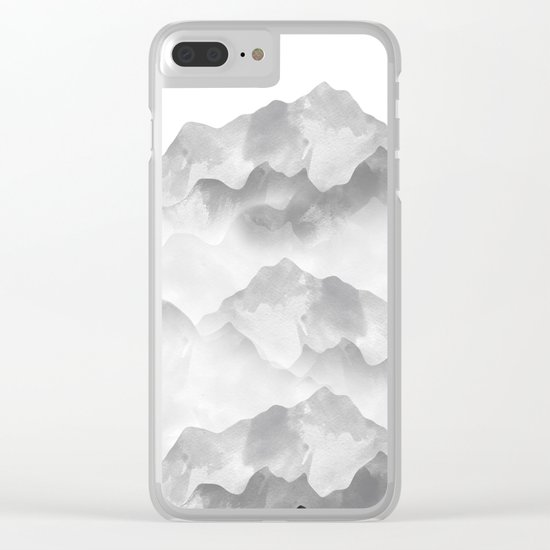 miss colored mountains Clear iPhone Case