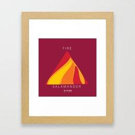 SALAMANDER- FIRE Framed Art Print