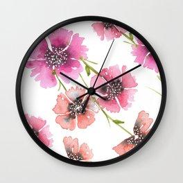 FLORAL DUET Wall Clock
