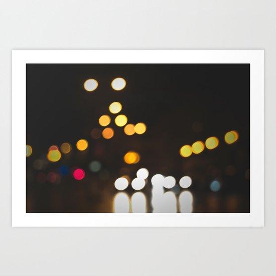 Streets at Night Art Print