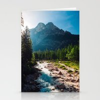 river Stationery Cards featuring River by Tomas Hudolin