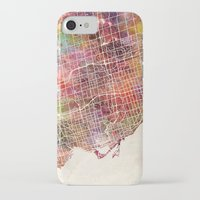 toronto iPhone & iPod Cases featuring Toronto by MapMapMaps.Watercolors