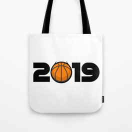 Happy New Year 2019 Basketball Funny Gift Tote Bag