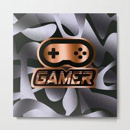 Gamer Copper Metal Print