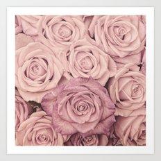 Some people grumble - Pink rose pattern- roses Art Print