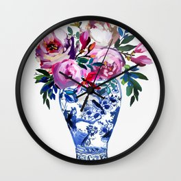 Vivid Chinoiserie Number 3 Wall Clock