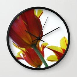 Floating tulips Wall Clock