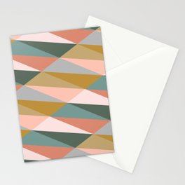 Earthy Diagonals Stationery Cards