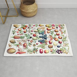 Adolphe Millot - Fruits pour tous - French vintage poster Rug
