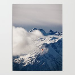 Paraglider in the Alps Poster