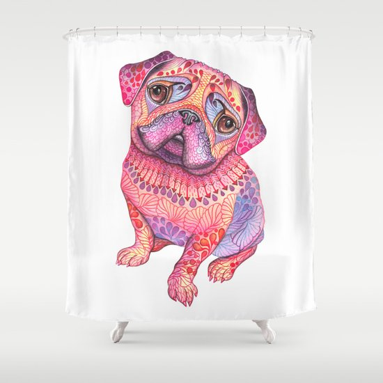 Pugberry Shower Curtain