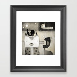 SHADES OF GRAY Framed Art Print