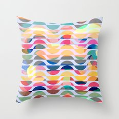 Happy waves Throw Pillow