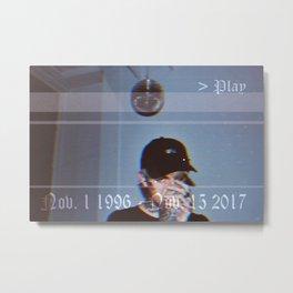 Lil Peep Death Metal Print