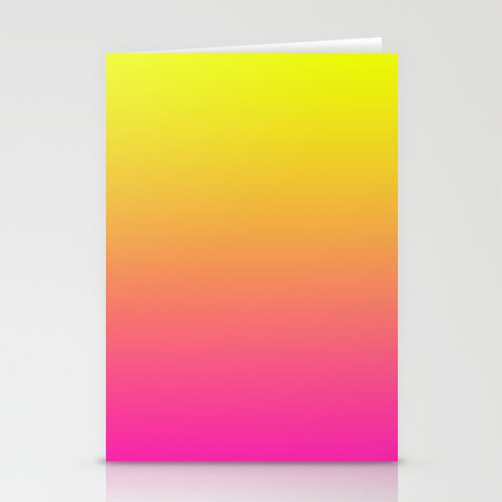 PINK & YELLOW FADE Stationery Cards