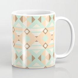 Pastel green brown ethnic moroccan motif pattern Coffee Mug